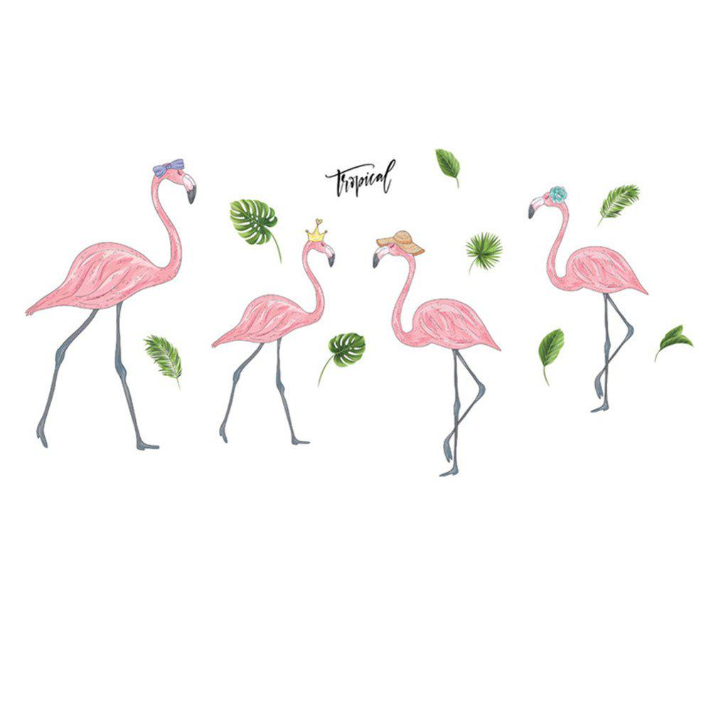 Nordic INS Simple Style Flamingo Living Room Wall Decoration Wall Sticker