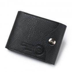 Men'S Fashion Multifunctional Magnetic Three Fold The Coin Purse Wallet -