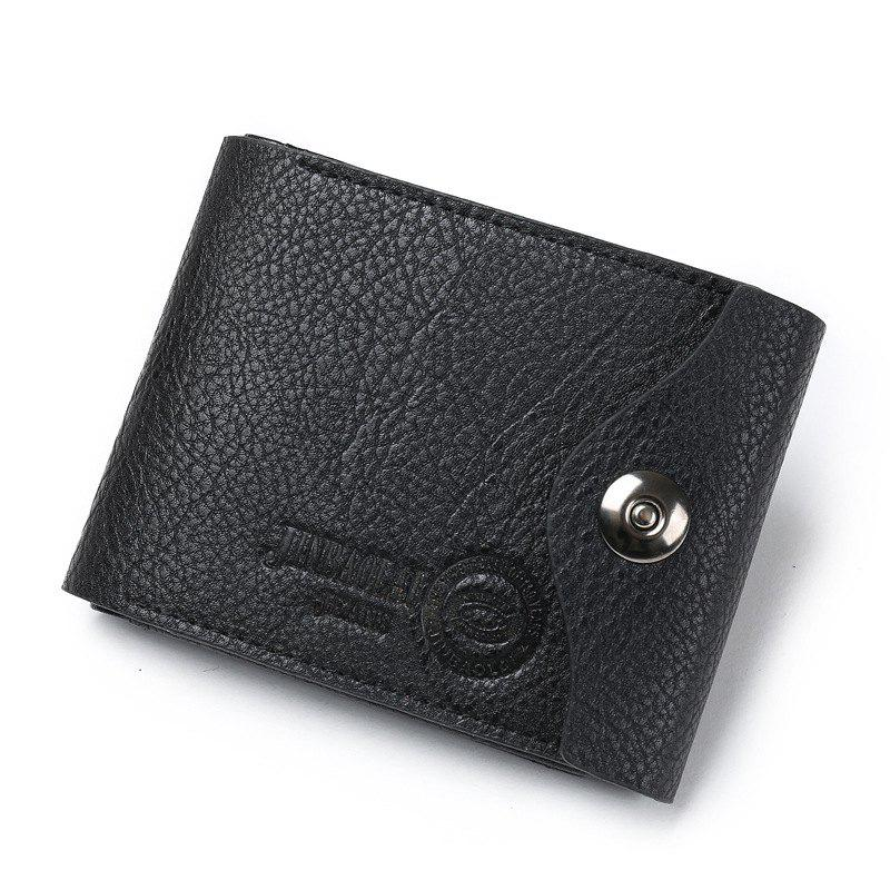 Online Men'S Fashion Multifunctional Magnetic Three Fold The Coin Purse Wallet