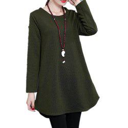 Women'S T Shirt Solid Color Curved Hem Plus Size Vintage Top -
