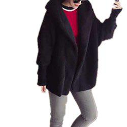 Women'S Plus Size Hooded Sleeve Fashion Coat -