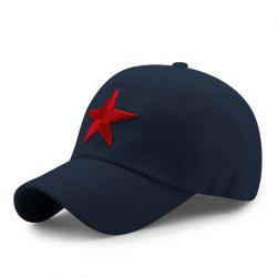 Pentagram Embroidered Casual Cap + Adjustable for 56-60cm head circumference -
