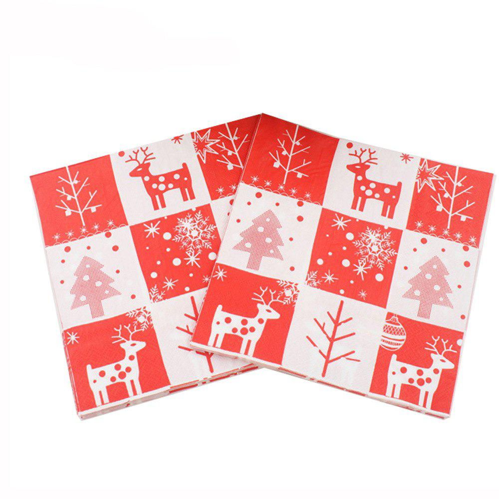 Best 20PCS Christmas Package Napkin Pocket Handkerchief For Home Table Decoration