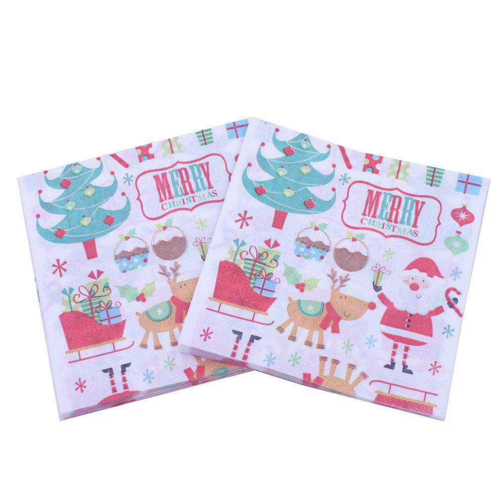 Cheap 20PCS Christmas Package Napkin Pocket Handkerchief For Home Table Decoration