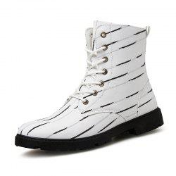 Men Boots Lace Up Fashion Soft and Comfortable Shoes -