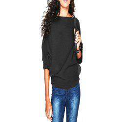 Women'S Thread Loose Solid Color T - Shirt -