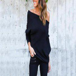 Sexy Off-The-Shoulder Bat Sleeve Thread T-Shirt Blouse for Women -