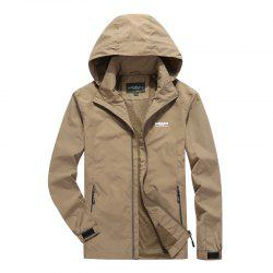 Men'S Large Size Outdoor Wind Casual Hooded Jacket -
