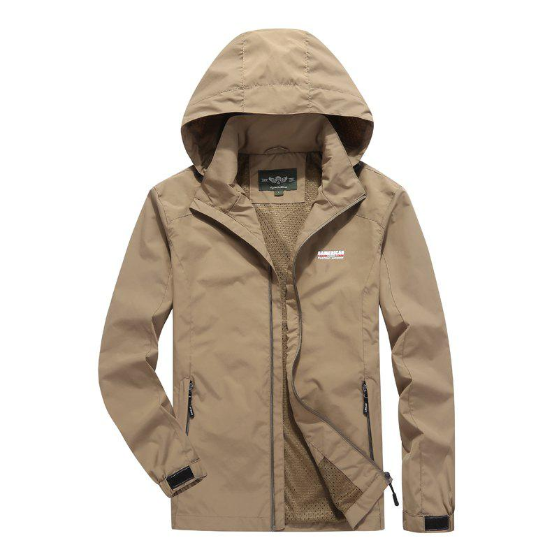 Discount Men'S Large Size Outdoor Wind Casual Hooded Jacket