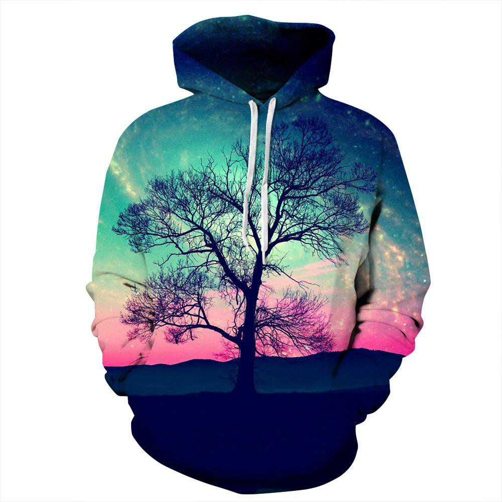 Chic New Couple Printing Long-Sleeve Beautiful Scenery 3D Digital Sweatershirt