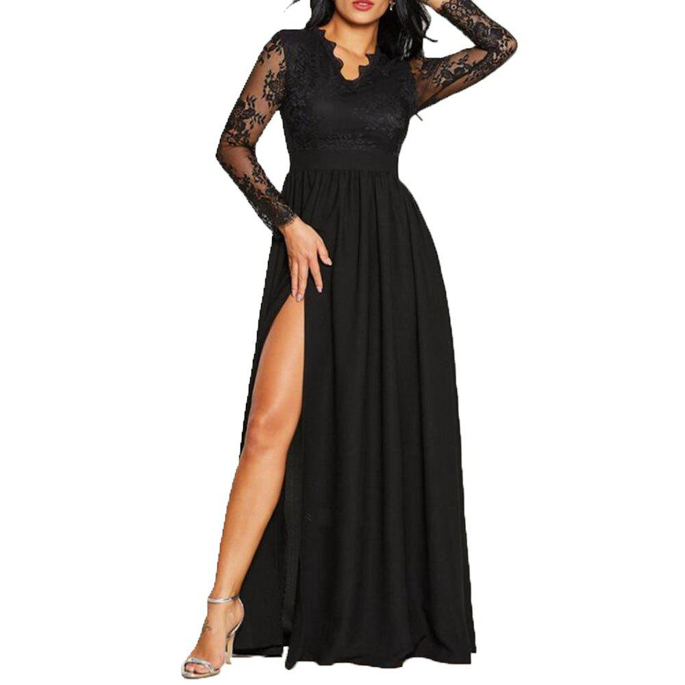 Unique Women's Sexy Lace Evening Dress