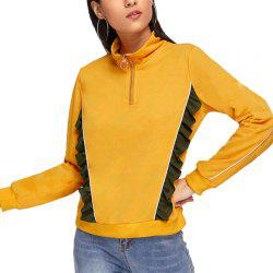 Women's Zipper Splicing Long Sleeve Sweatshirt -