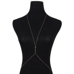Exaggerated Crystal Body Chain -