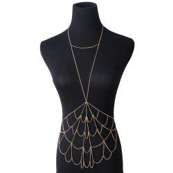 Simple Personality Mesh Metal Body Chain -