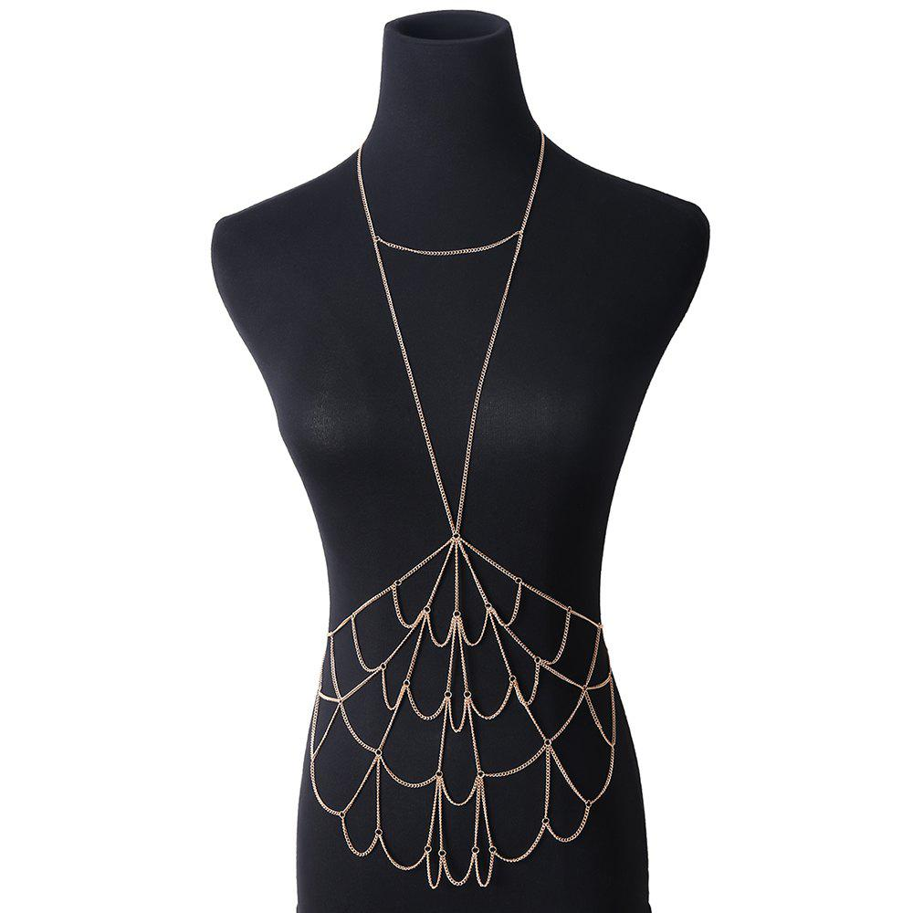 Best Simple Personality Mesh Metal Body Chain