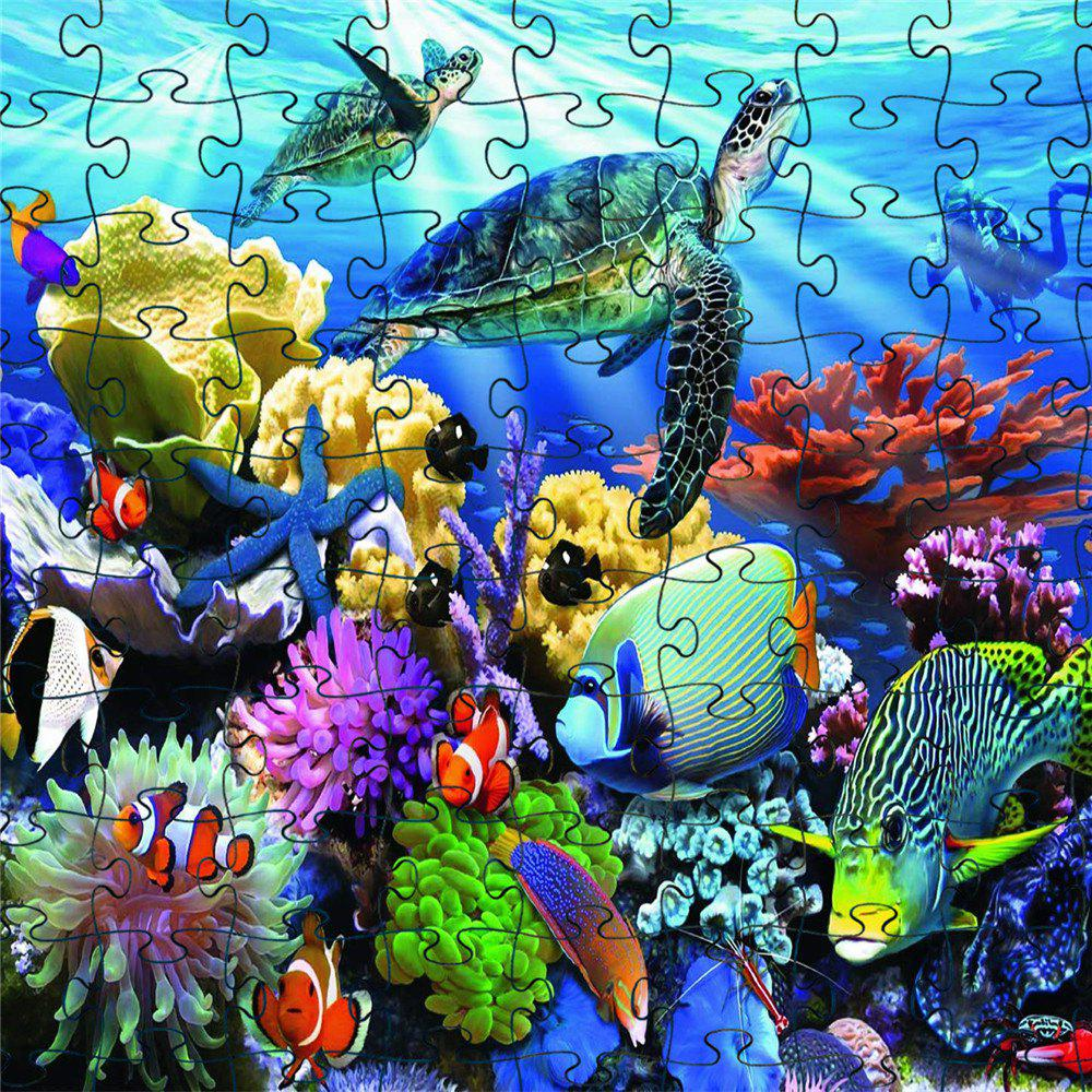 3D Jigsaw Paper Ocean World Puzzle Block Assembly Birthday Toy