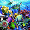 3D Jigsaw Paper Ocean World Puzzle Block Assembly Birthday Toy -