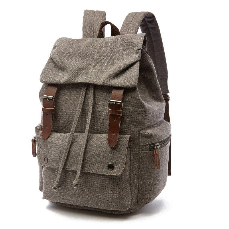 Fashion ZUOLUNDUO New Canvas Bag Student Bag Travel Backpack d2f3e0378251