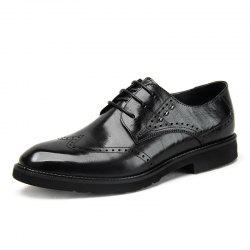 Men'S Business Casual Leather Shoes Hollowed-Out Men'S Shoes Engraved Thick Sole -