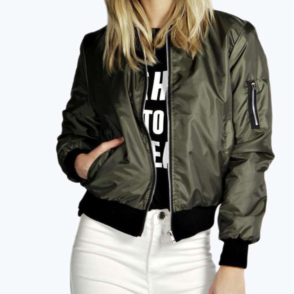 New Solid Color Fashion Zipper Jacket