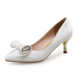 Pointed Stiletto Flower Bow Female Shoes Wedding Shoes -