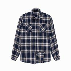 Men's New Long Sleeve Cotton Plaid Casual Pocket Shirt -