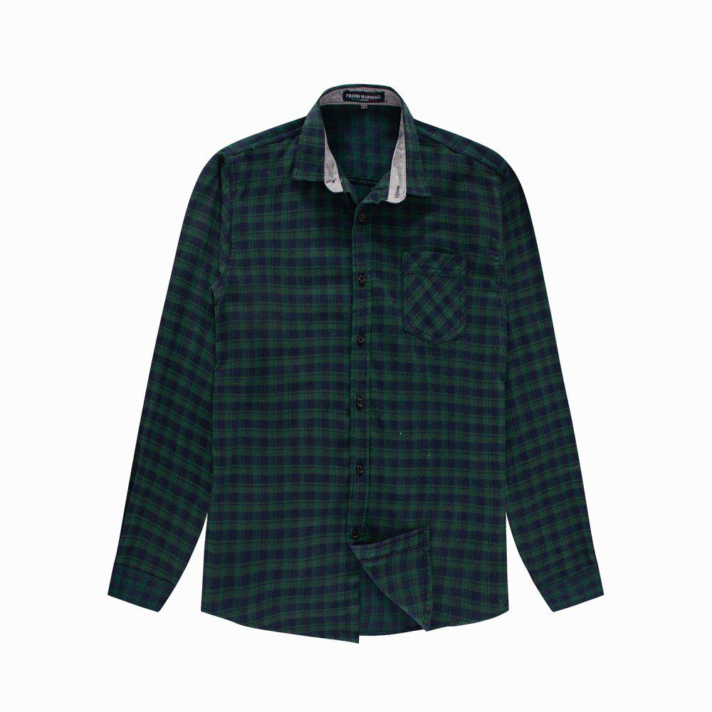Shop Men's New Casual Long Sleeve Flannel Plaid Shirt