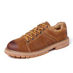 Leather Fashion and Leisure Tooling Shoes -