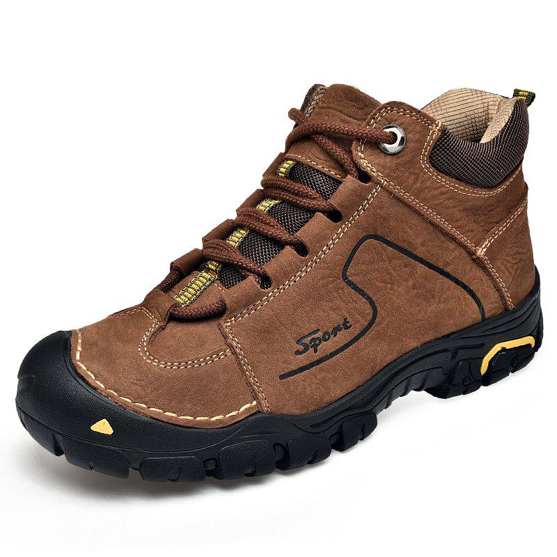 Chic Head Leather Outdoor Climbing Shoes