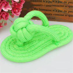 Pet Colorful Knotted Toy Cats and Dogs Cotton Rope Knits Slippers -