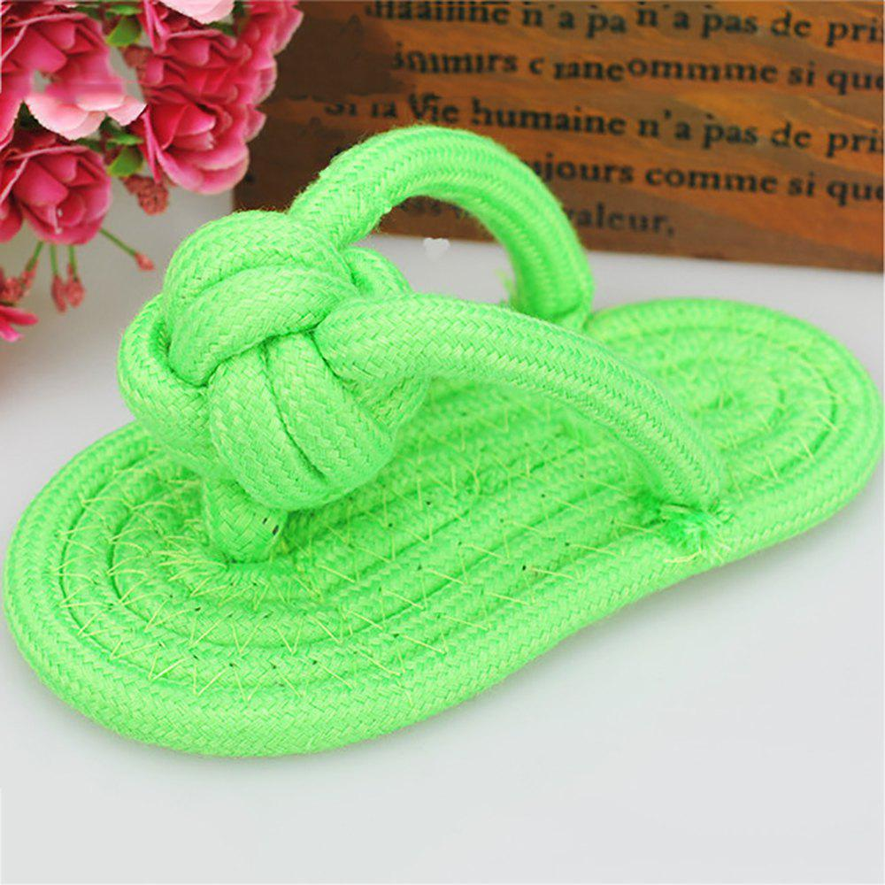 Unique Pet Colorful Knotted Toy Cats and Dogs Cotton Rope Knits Slippers
