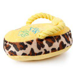 Pet Colorful Plush Talking Toys Cats and Dogs Resistance To Bite Slipper -