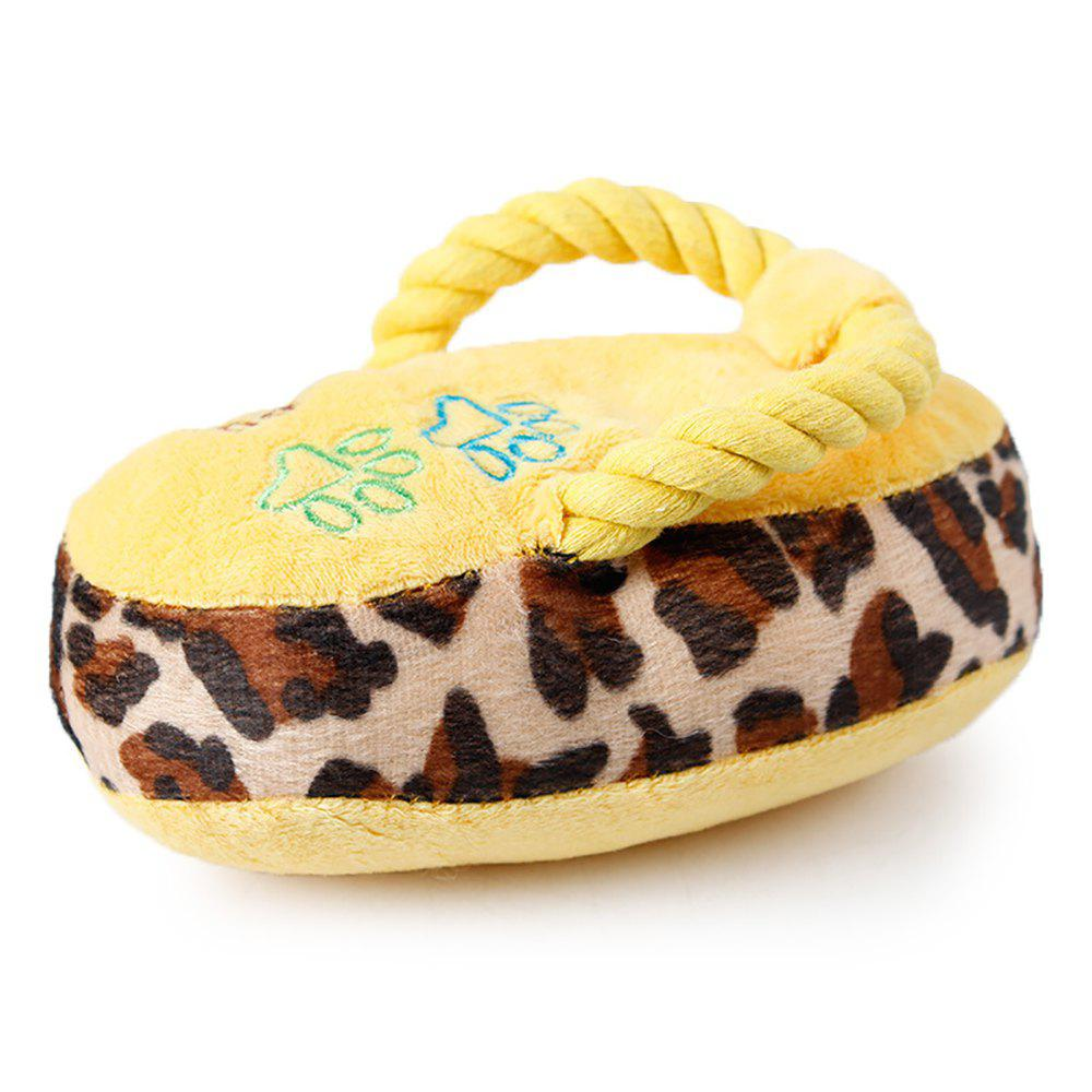 Trendy Pet Colorful Plush Talking Toys Cats and Dogs Resistance To Bite Slipper