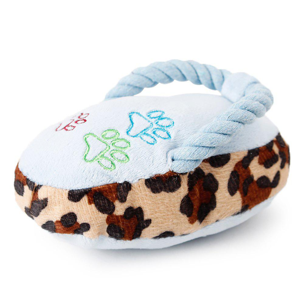 Online Pet Colorful Plush Talking Toys Cats and Dogs Resistance To Bite Slipper