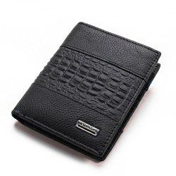 Fashion Business and Leisure Man Leather Wallet Wallet Brief Paragraph -