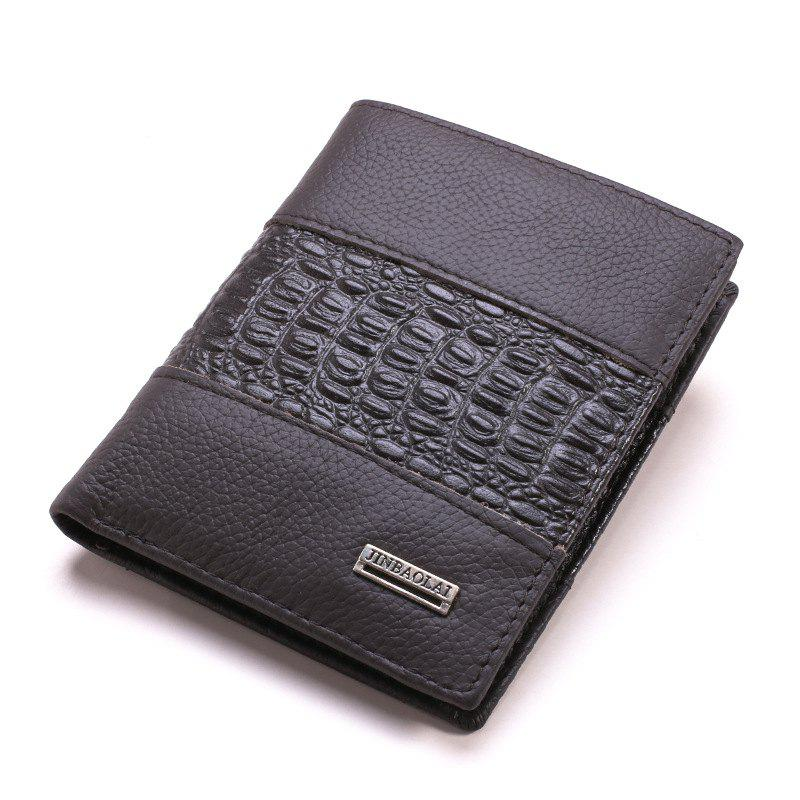 Shops Fashion Business and Leisure Man Leather Wallet Wallet Brief Paragraph