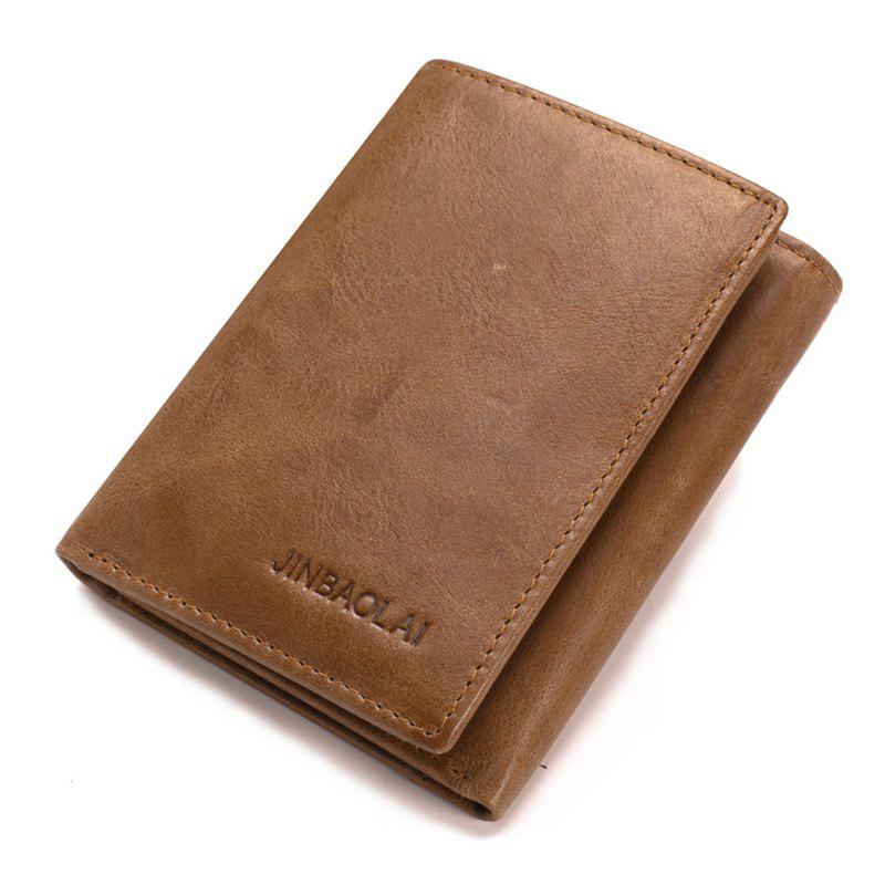 Outfits Men Leisure Fashion More Screens Three Fold Wallet Leather Purse