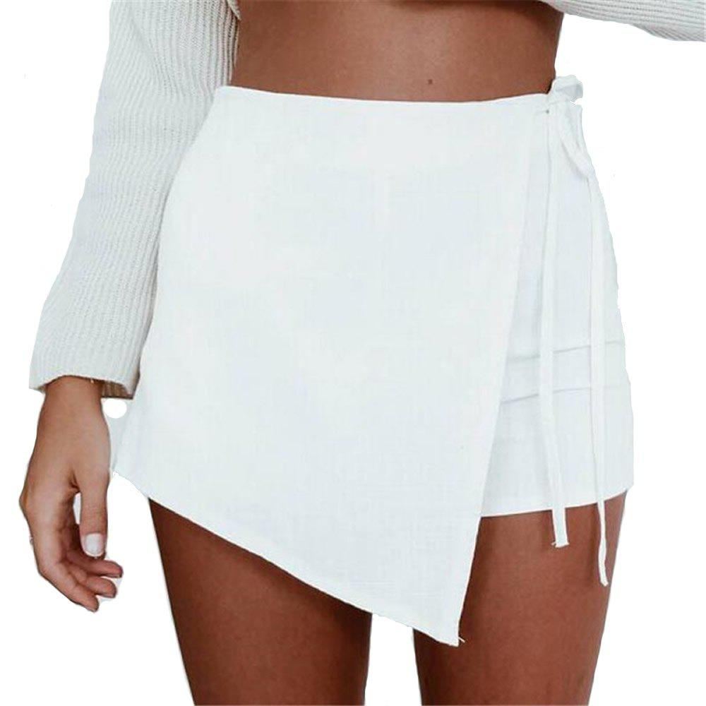 Shop Irregular Bandage Summer Short Skirts Thin Pants