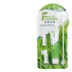 Pet General Toothpaste Toothbrush Set Cleans Dental Plaque -