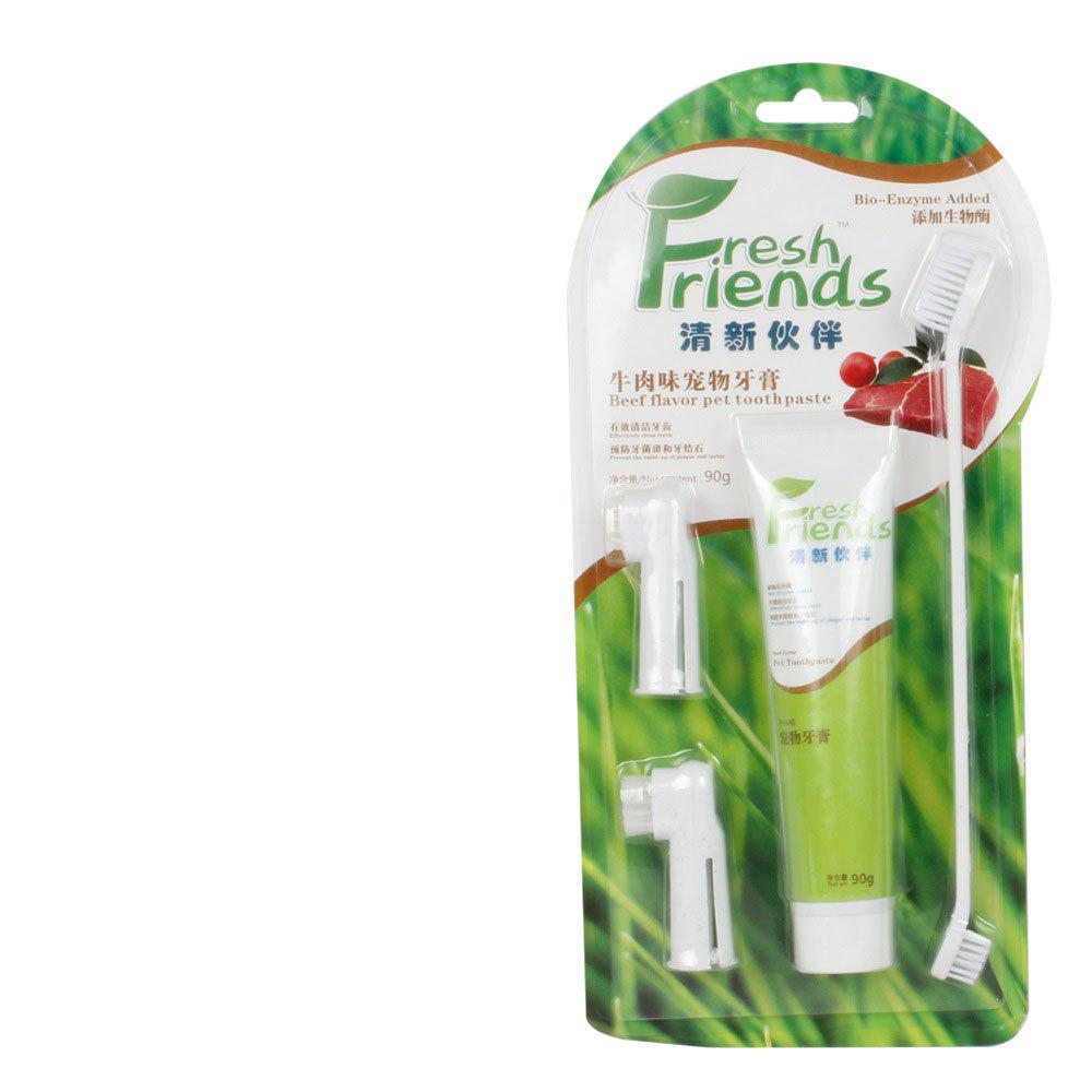 Outfit Pet General Toothpaste Toothbrush Set Cleans Dental Plaque