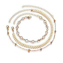 Vintage Fashion Gold Anklets Set -