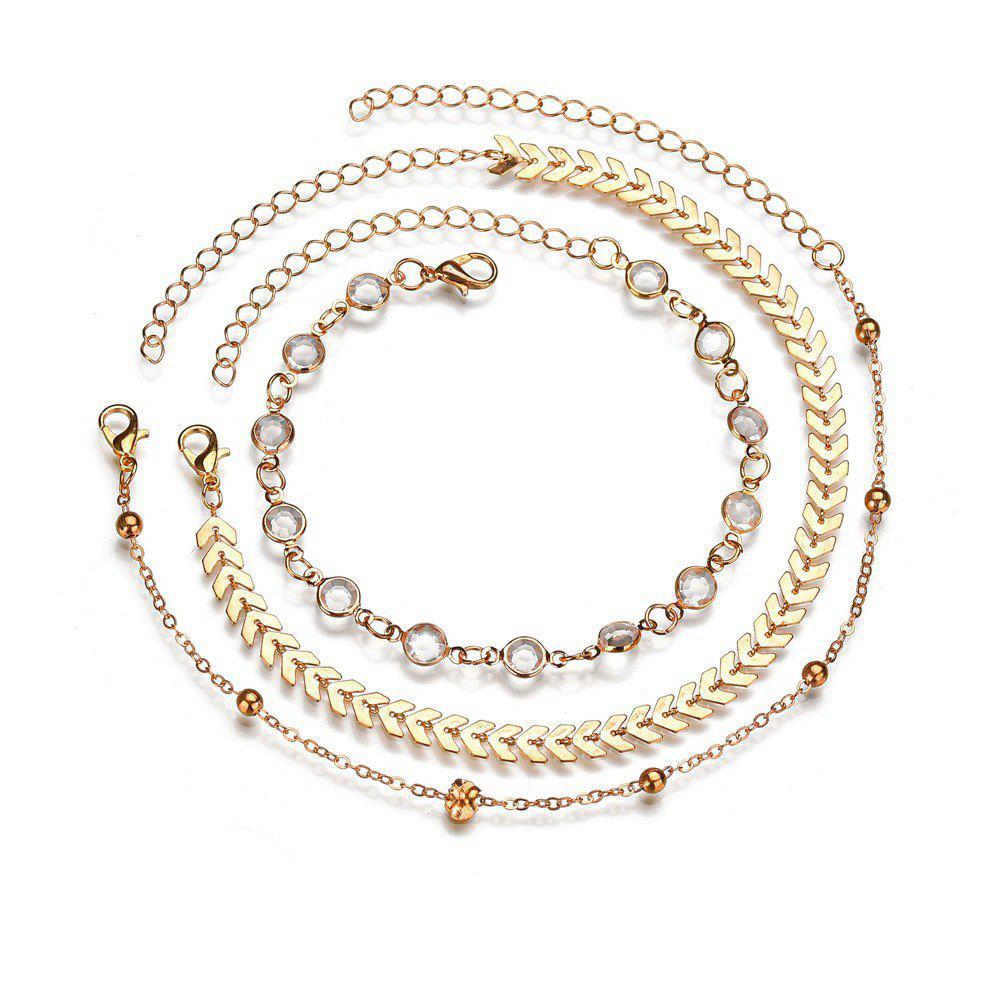 Trendy Vintage Fashion Gold Anklets Set