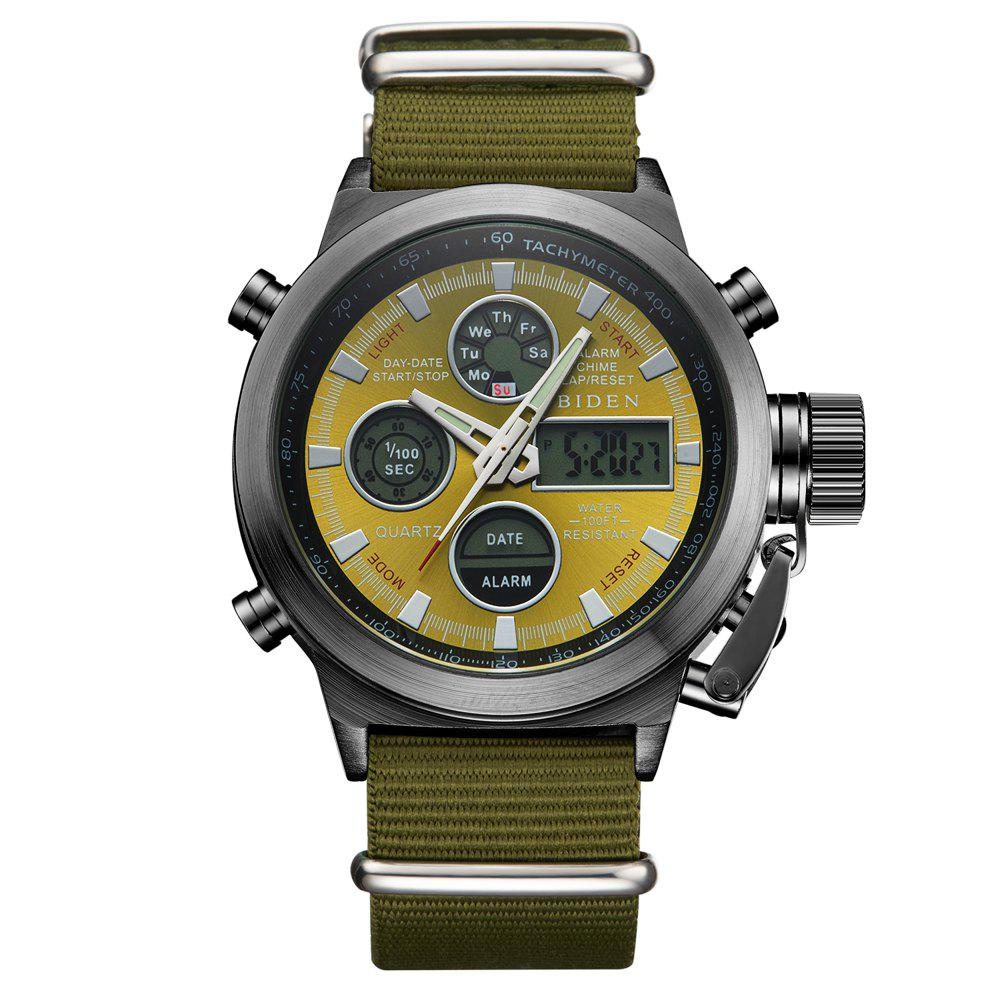 New Outdoor Sports Military Watch Quartz Double Movement Watch
