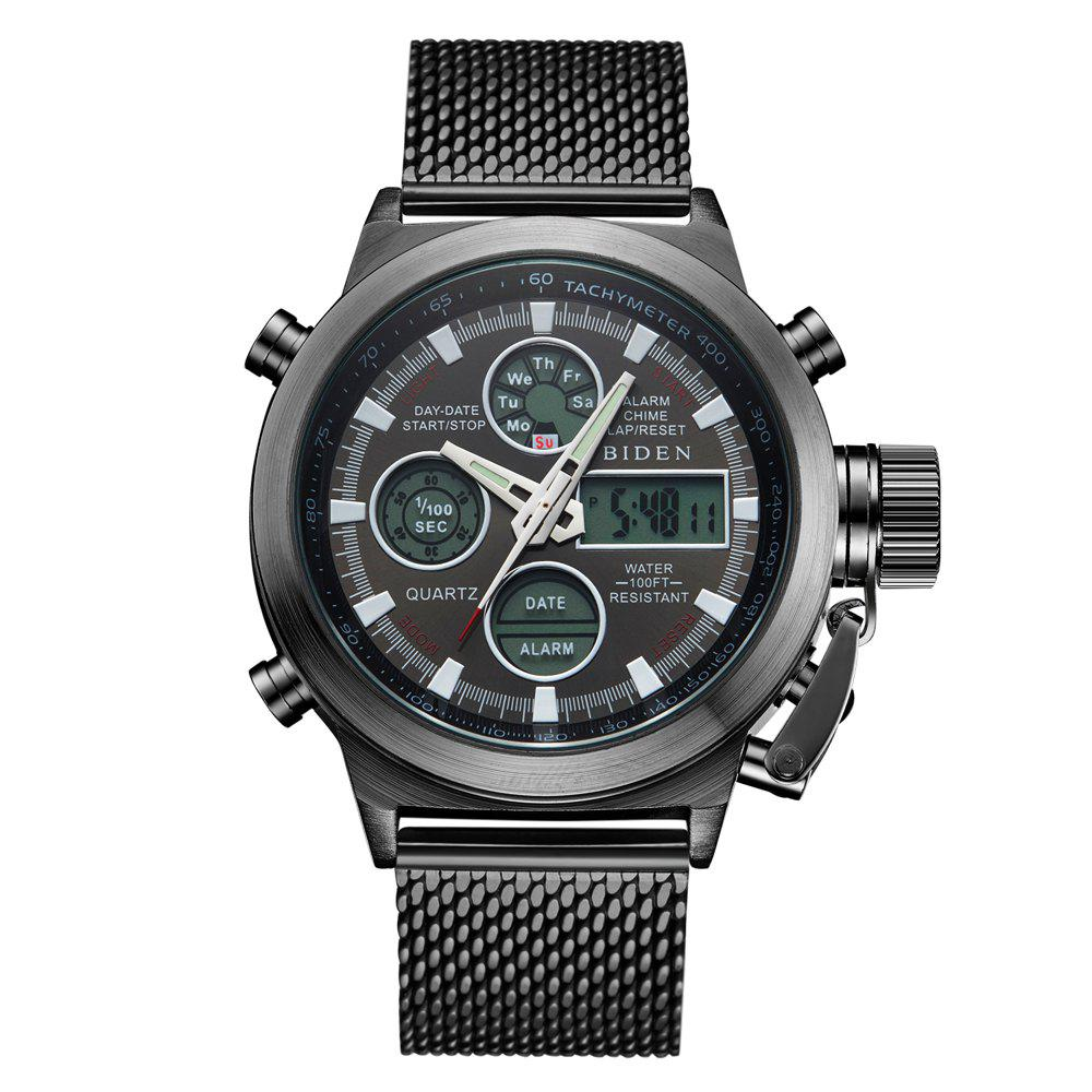 Chic Outdoor Sports Military Watch Quartz Double Movement Watch