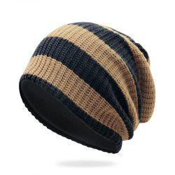 Striped Knit Head Cap + Free Size for 55-62CM -