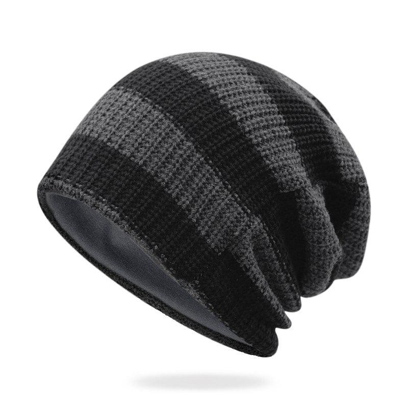 Outfit Striped Knit Head Cap + Free Size for 55-62CM