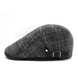 Plaid breathable beret + adjustable for 56-58cm -