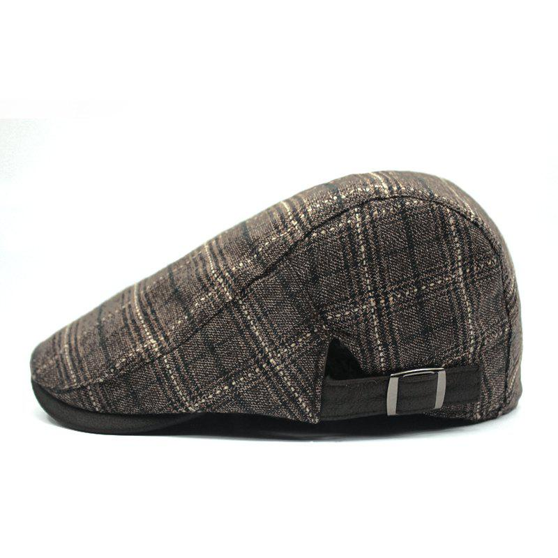 New Plaid breathable beret + adjustable for 56-58cm