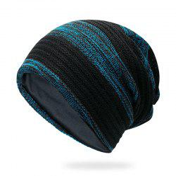 Mixed color striped wool cap + size code for 56-60cm -