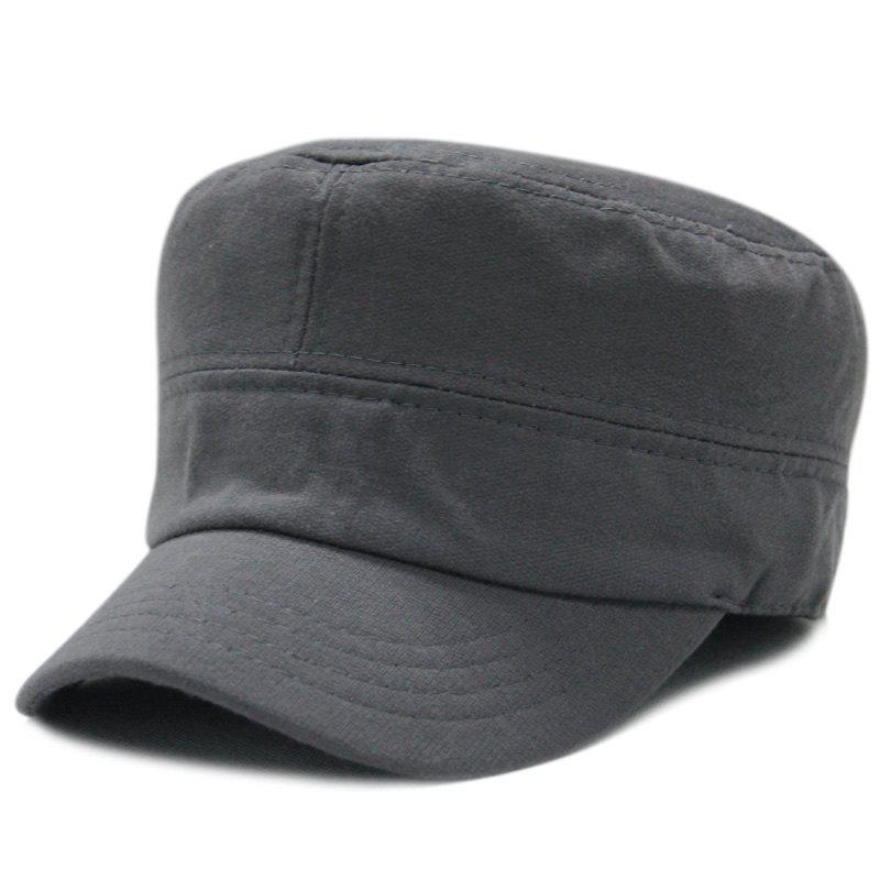 Latest Warm military cap flat cap + size code for 56-58cm